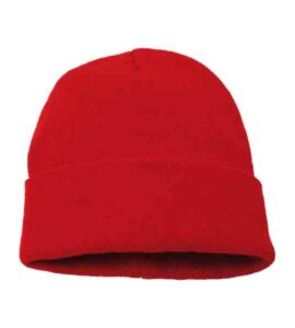 KNITTED-BEANIE-red