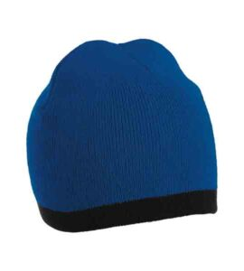 KNITTED-TWO-TONE-BEANIE